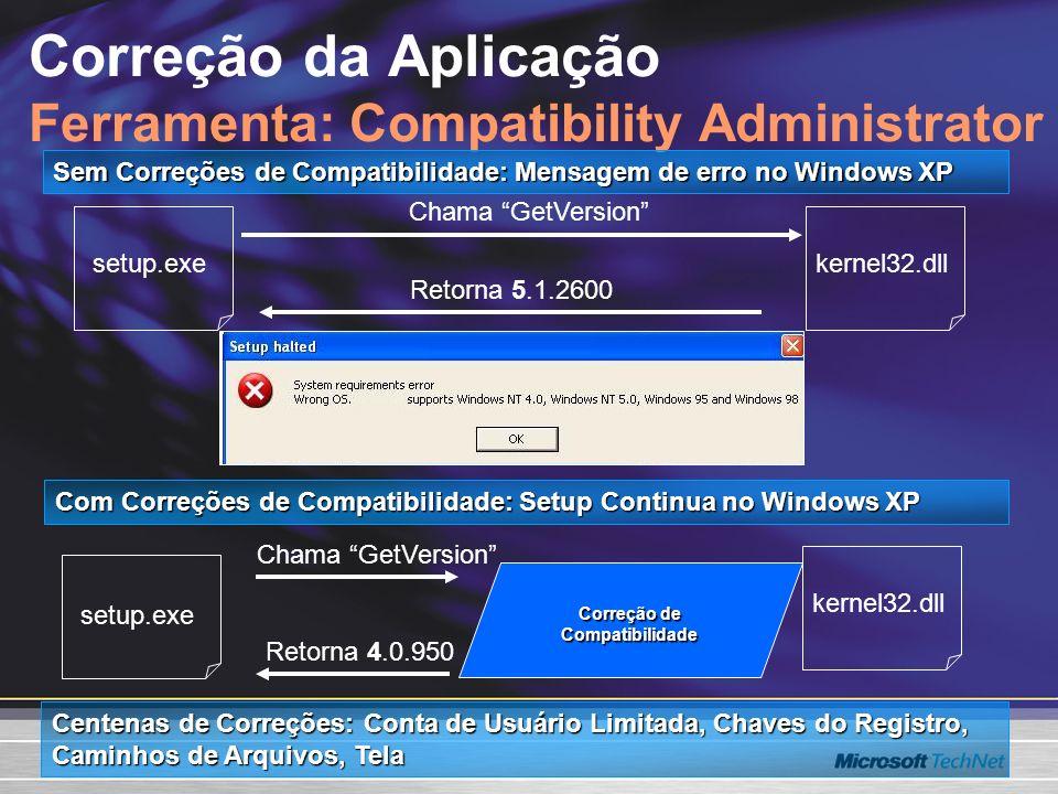 Correção da Aplicação Ferramenta: Compatibility Administrator