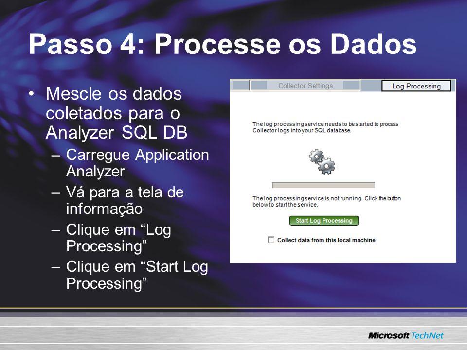 Passo 4: Processe os Dados