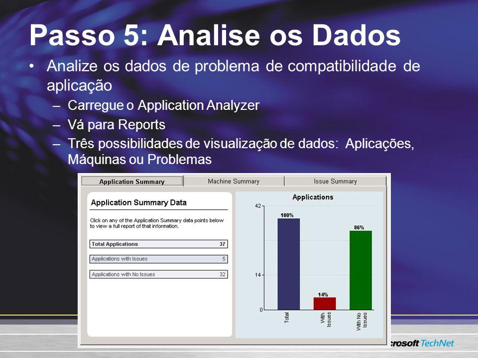 Passo 5: Analise os Dados