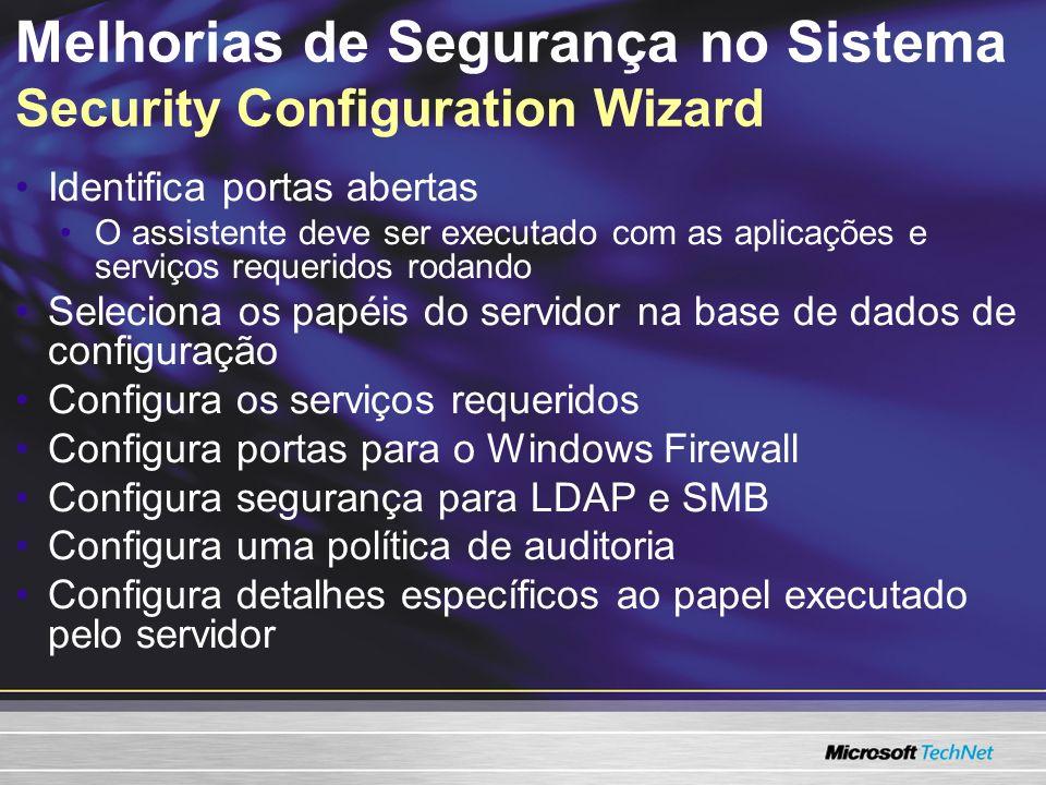 Melhorias de Segurança no Sistema Security Configuration Wizard