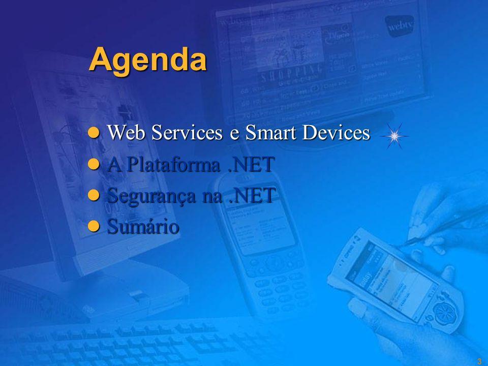 Agenda Web Services e Smart Devices A Plataforma .NET