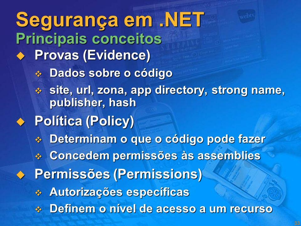 Segurança em .NET Principais conceitos