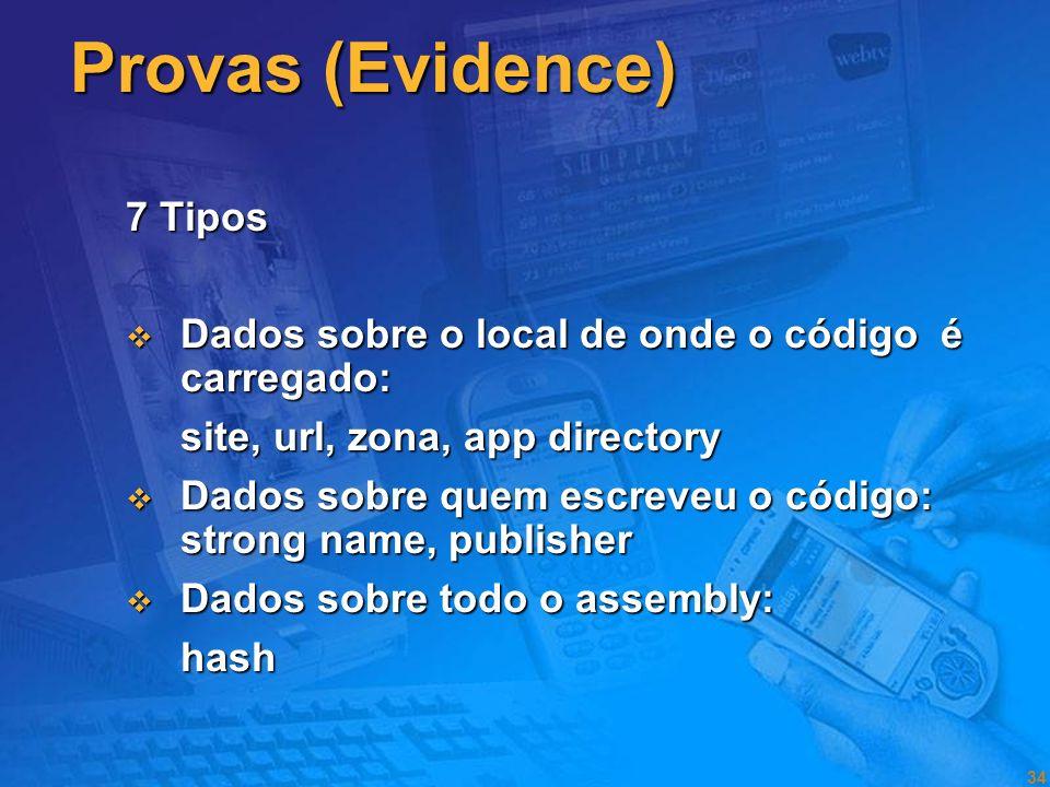 Provas (Evidence) 7 Tipos