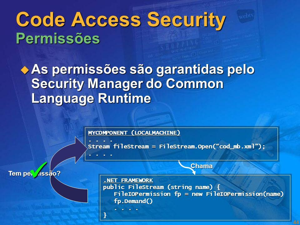 Code Access Security Permissões