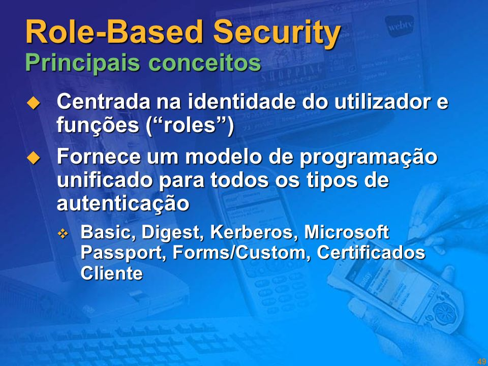 Role-Based Security Principais conceitos