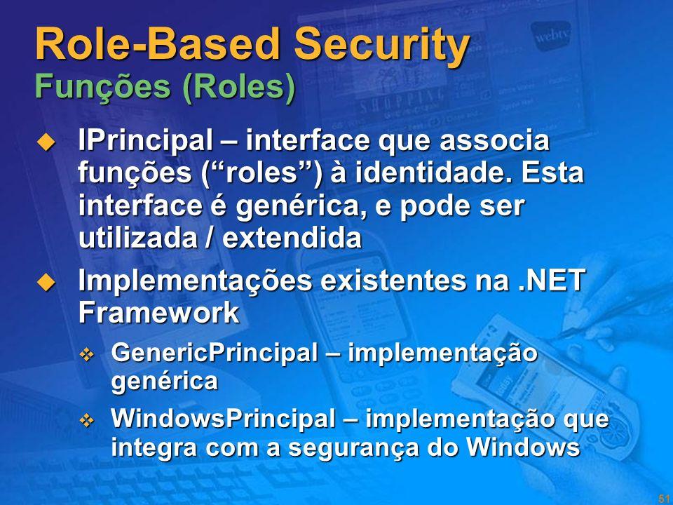 Role-Based Security Funções (Roles)
