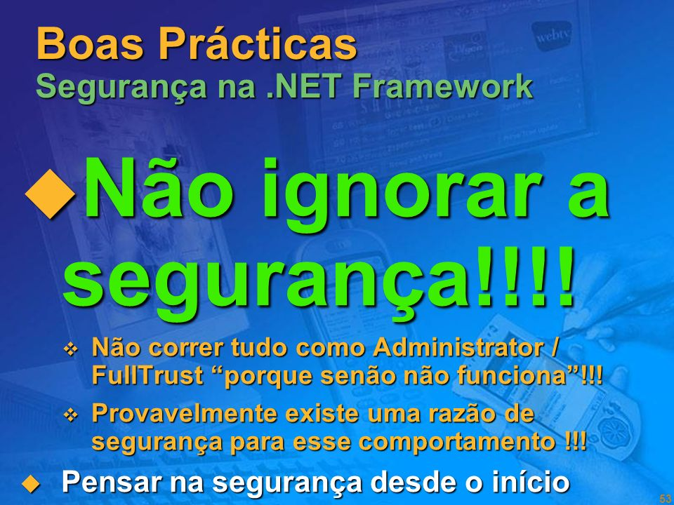 Boas Prácticas Segurança na .NET Framework