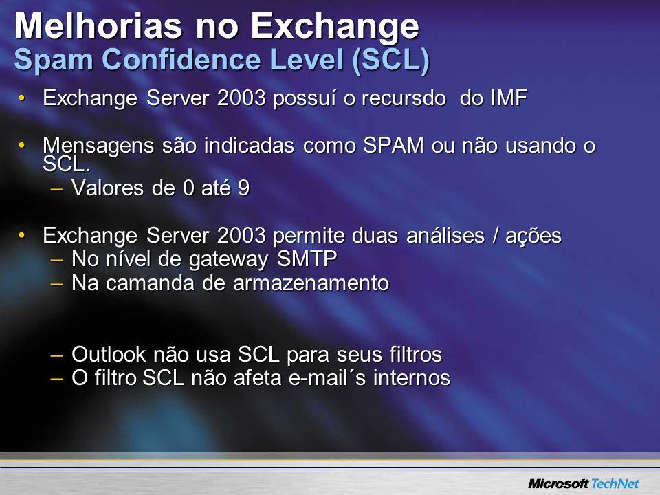 Melhorias no Exchange Spam Confidence Level (SCL)