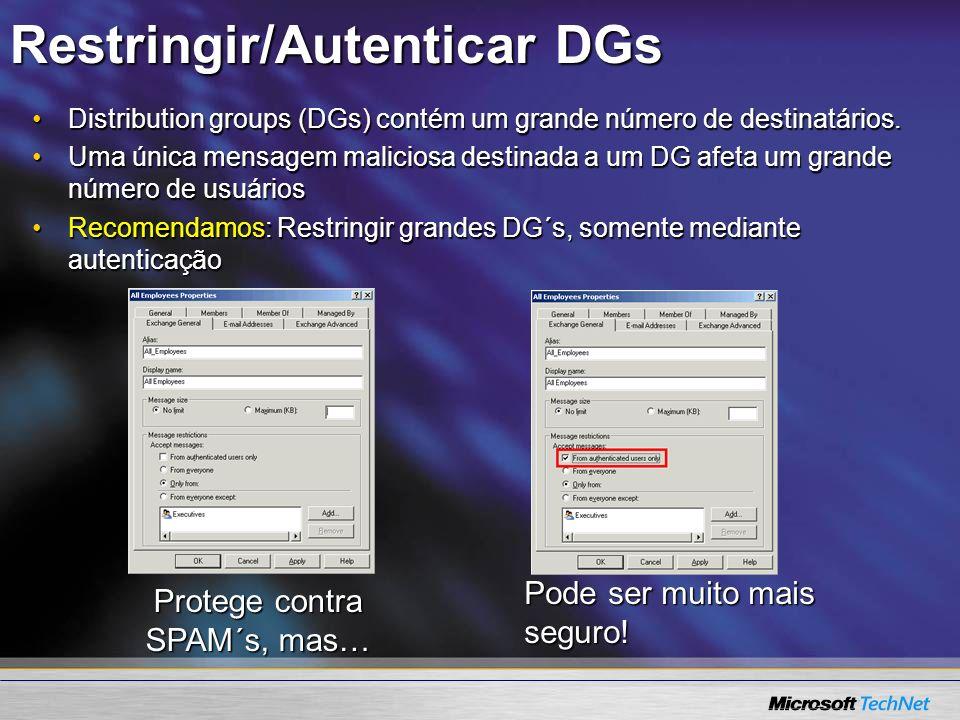 Restringir/Autenticar DGs