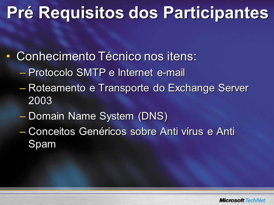 Pré Requisitos dos Participantes