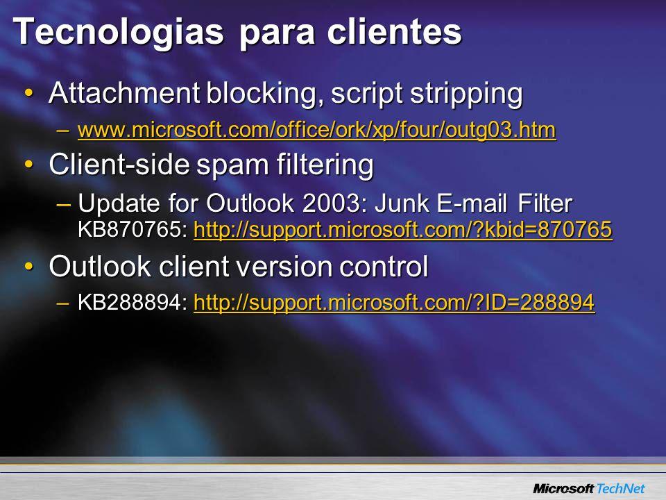 Tecnologias para clientes
