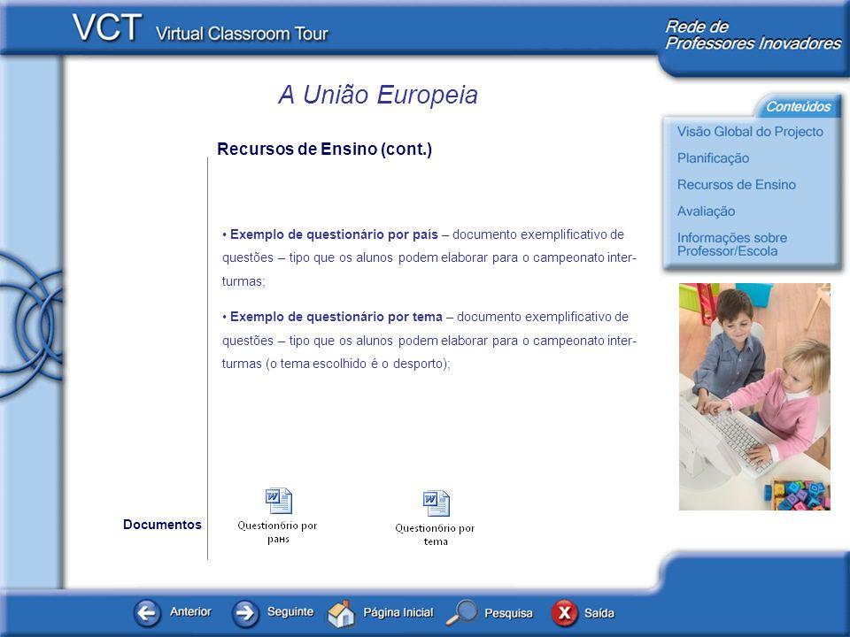 Recursos de Ensino (cont.)