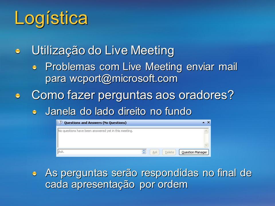 Logística Utilização do Live Meeting