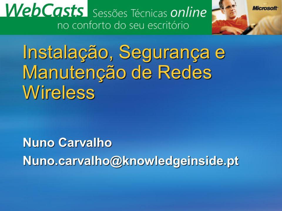 Instalação, Segurança e Manutenção de Redes Wireless