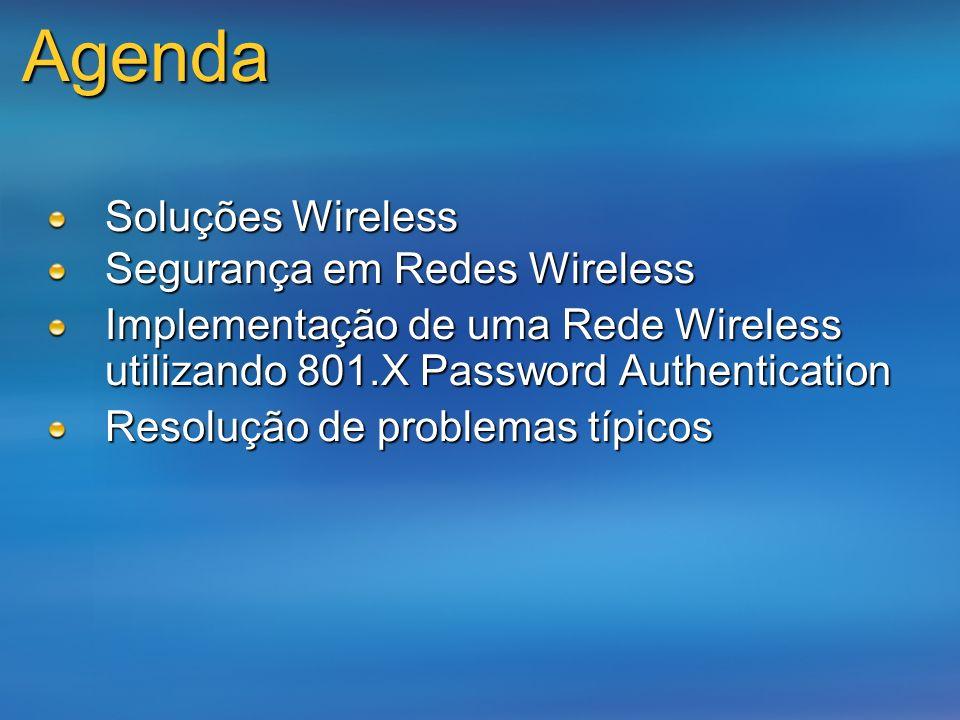 Agenda Soluções Wireless Segurança em Redes Wireless