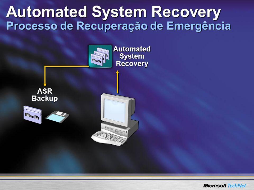 Automated System Recovery Processo de Recuperação de Emergência