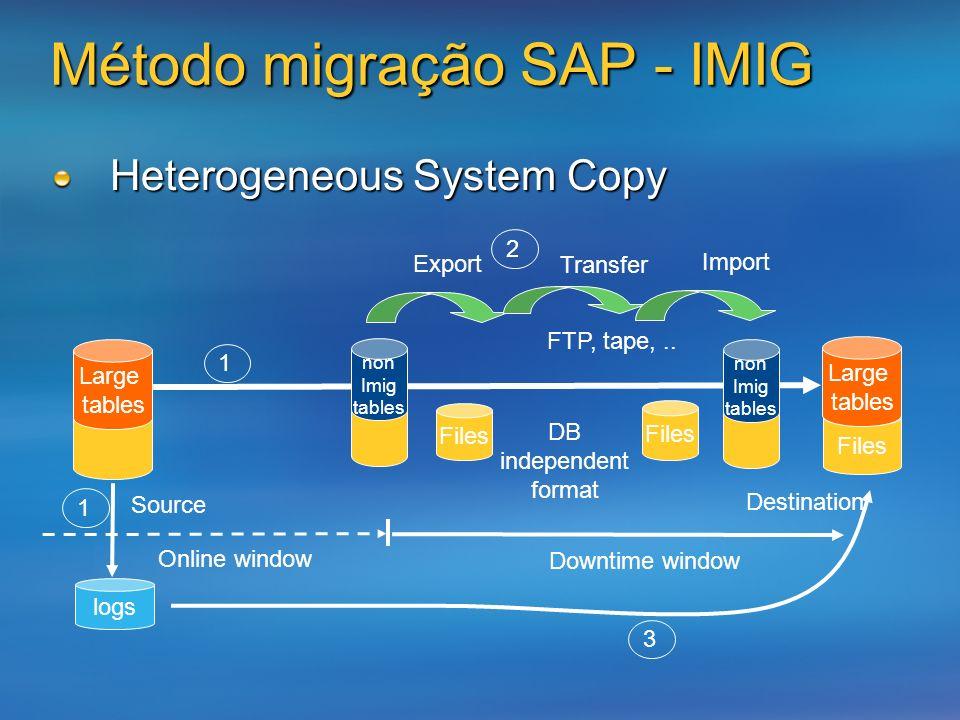 Método migração SAP - IMIG