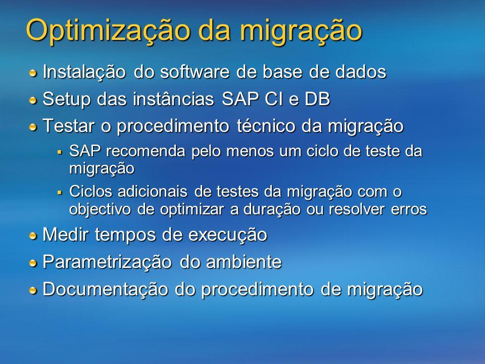 Optimização da migração