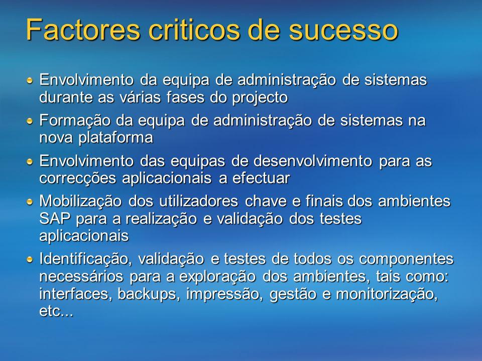 Factores criticos de sucesso