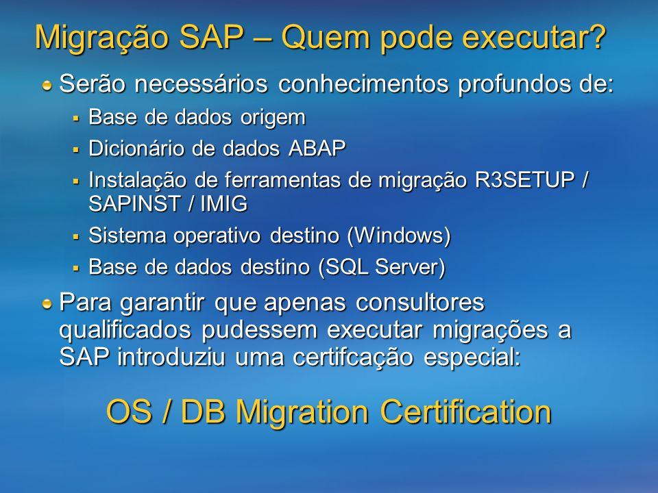 Migração SAP – Quem pode executar