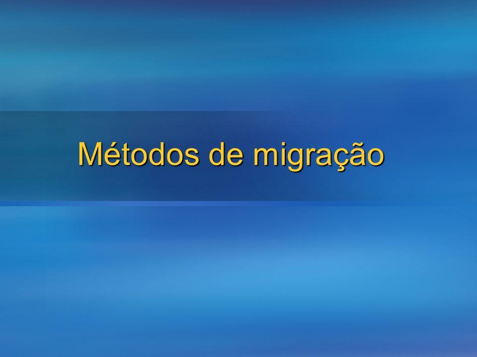 3/24/2017 Métodos de migração Use this slide if you need to spilt topics across your session