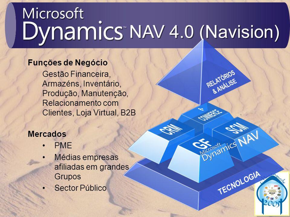NAV 4.0 (Navision) e- COMMERCE SCM CRM NAV GF RELATÓRIOS & ANÁLISE