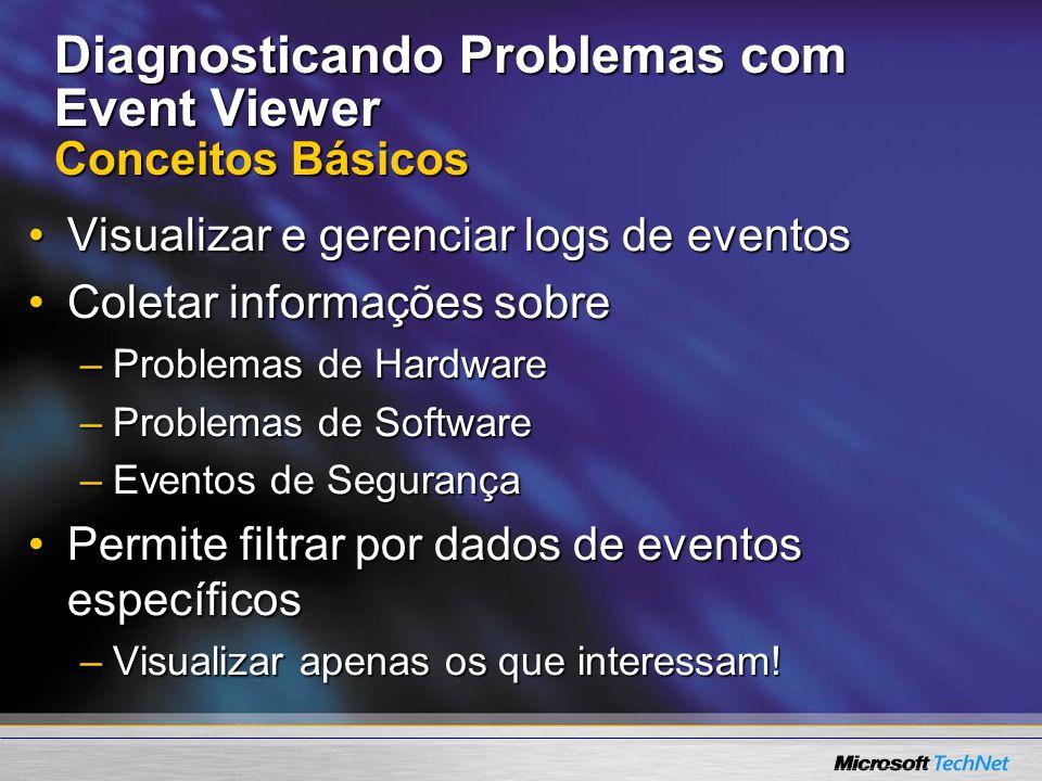 Diagnosticando Problemas com Event Viewer Conceitos Básicos