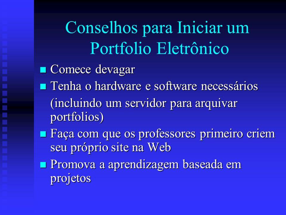 Conselhos para Iniciar um Portfolio Eletrônico