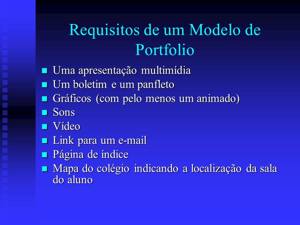 Requisitos de um Modelo de Portfolio