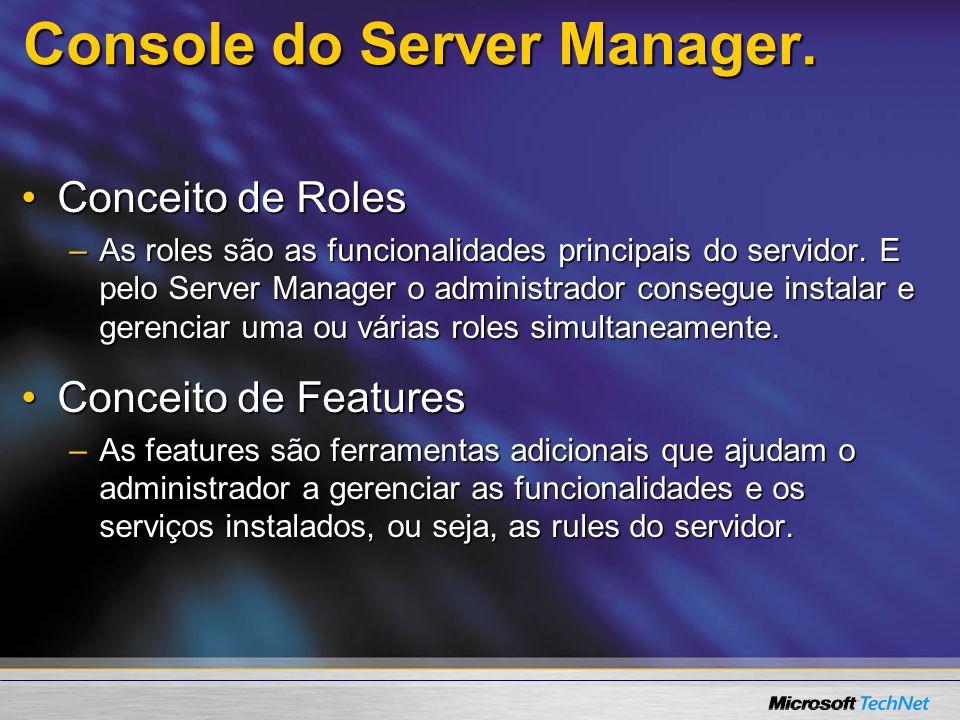 Console do Server Manager.