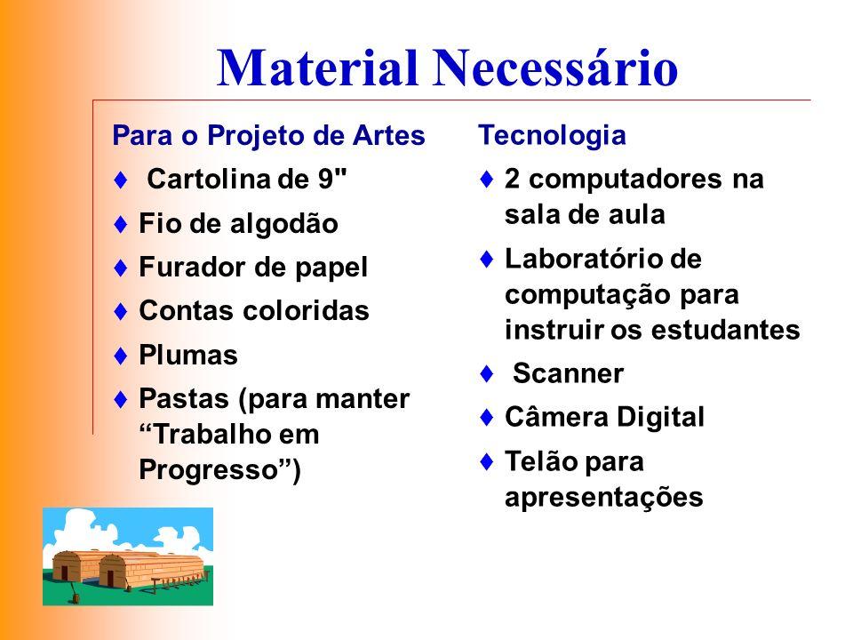 Material Necessário Para o Projeto de Artes Tecnologia Cartolina de 9