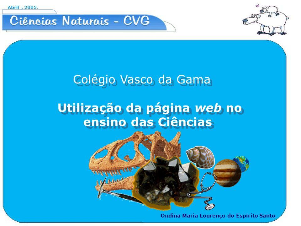Utilização da página web no ensino das Ciências