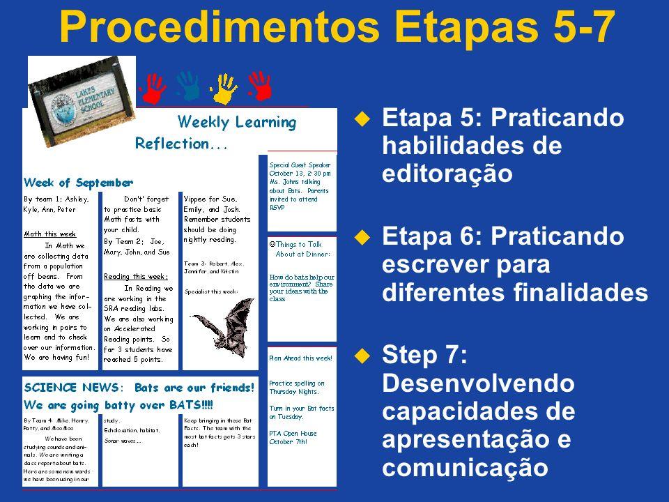 Procedimentos Etapas 5-7