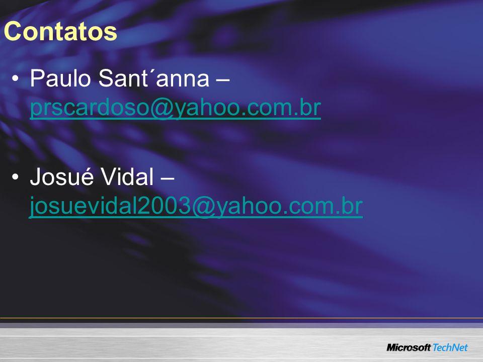 Contatos Paulo Sant´anna – prscardoso@yahoo.com.br