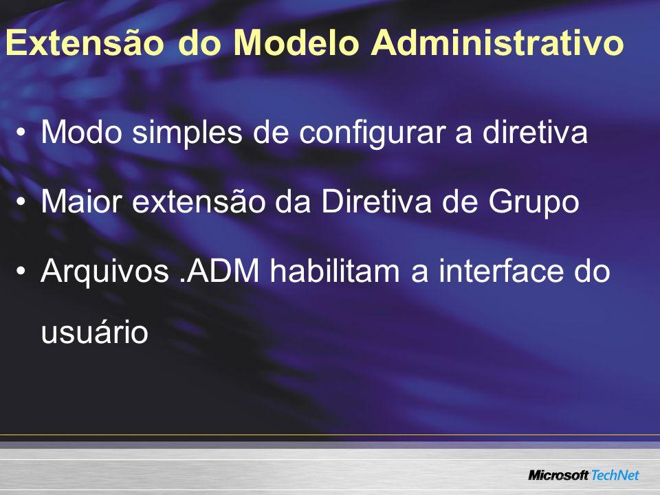 Extensão do Modelo Administrativo