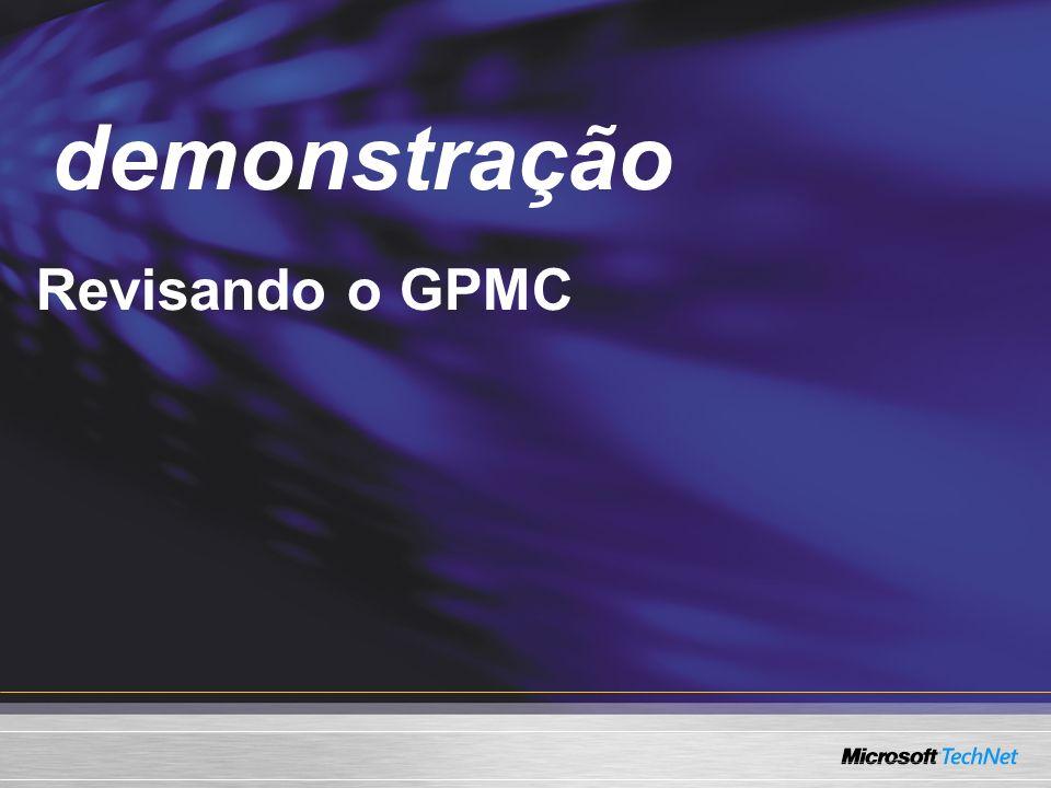 demonstração Demo Revisando o GPMC