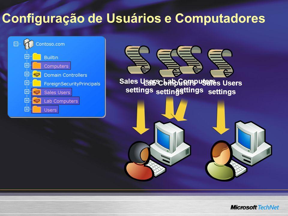 Configuração de Usuários e Computadores