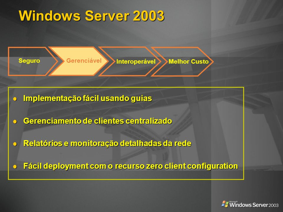Windows Server 2003 Implementação fácil usando guias