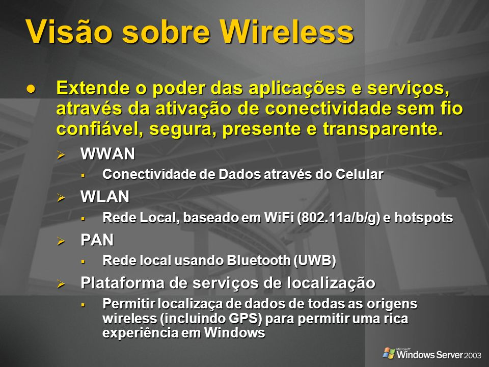 Visão sobre Wireless