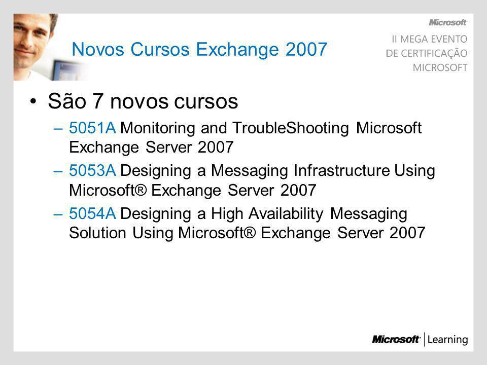 São 7 novos cursos Novos Cursos Exchange 2007