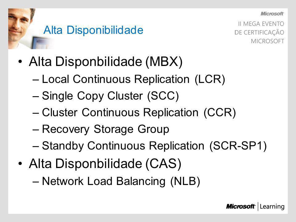 Alta Disponbilidade (MBX)