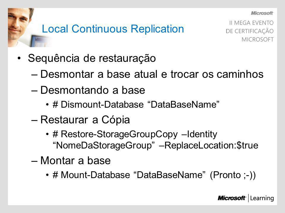 Local Continuous Replication