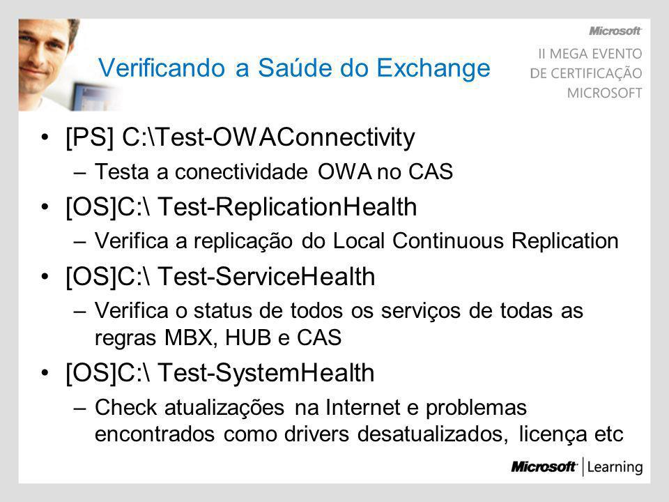 Verificando a Saúde do Exchange