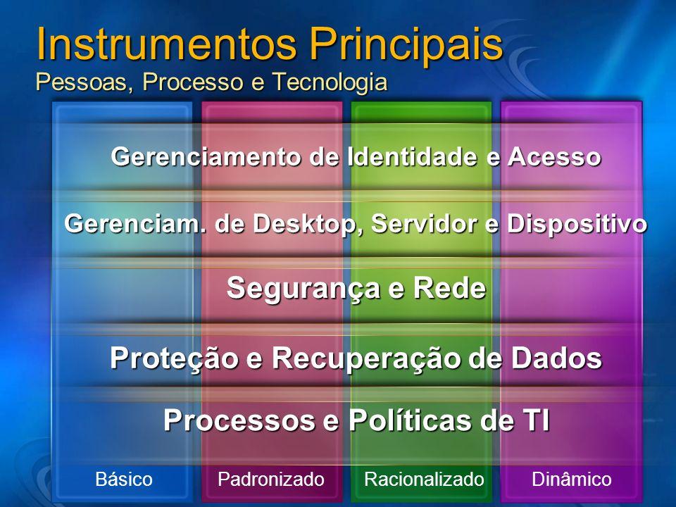 Instrumentos Principais Pessoas, Processo e Tecnologia