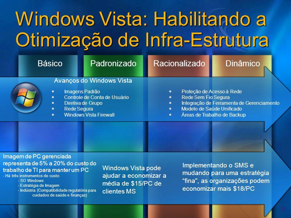 Windows Vista: Habilitando a Otimização de Infra-Estrutura