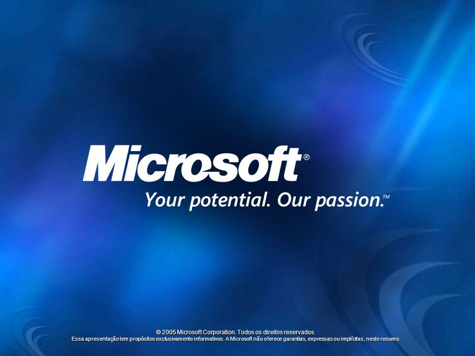 © 2005 Microsoft Corporation. Todos os direitos reservados.