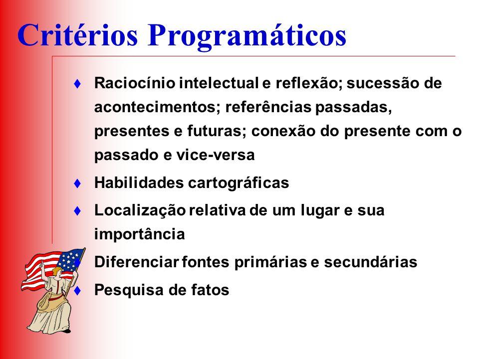 Critérios Programáticos