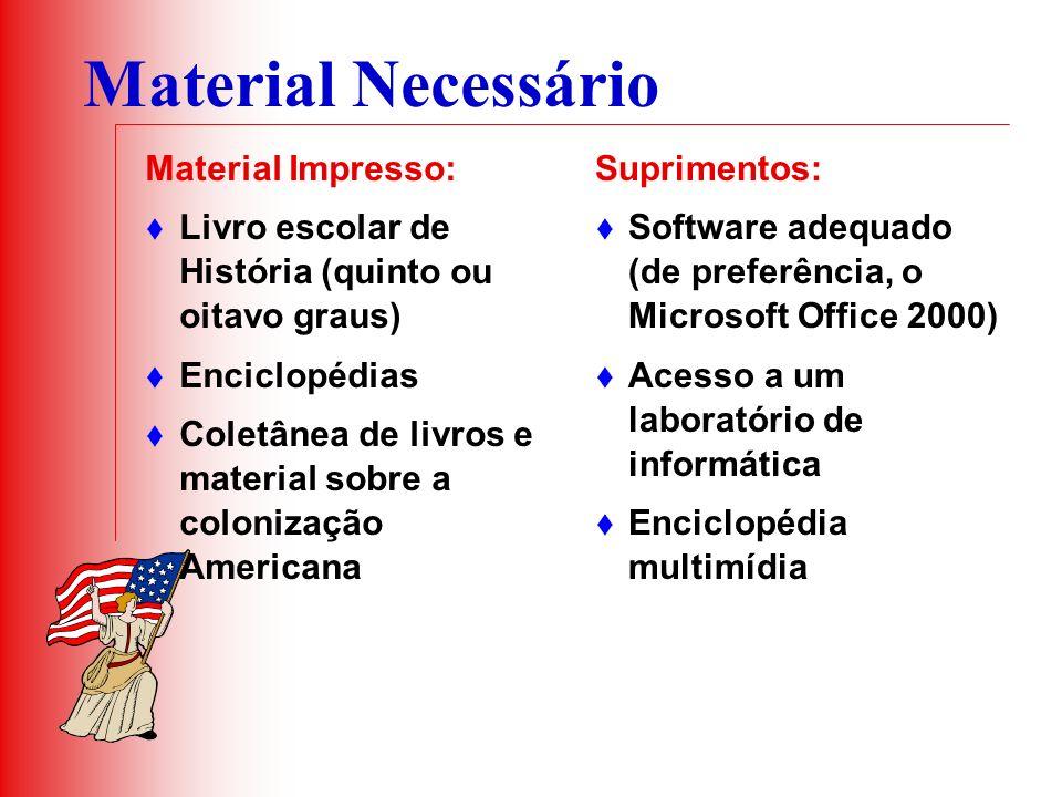 Material Necessário Material Impresso: