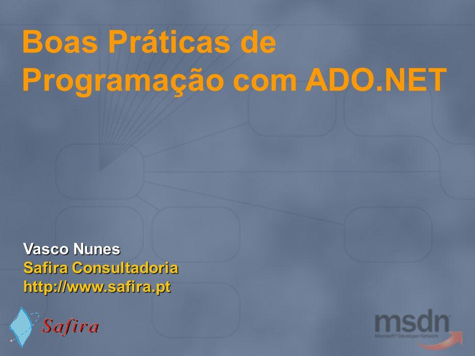Boas Práticas de Programação com ADO.NET