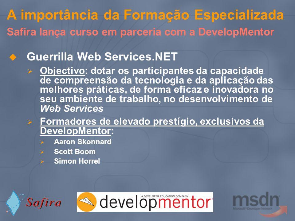 A importância da Formação Especializada Safira lança curso em parceria com a DevelopMentor